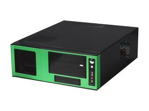 APEVIA Black / Green SECC Steel / Aluminum X-MASTER-GN/500 ATX Media Center / HTPC Case