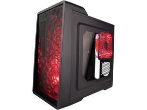 APEVIA X-EnerQ-RD Black/Red SECC Computer Case