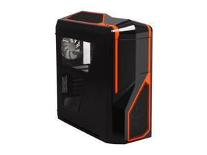 NZXT Phantom 410 CA-PH410-B3 Black Orange Trim Computer Case With Side Panel Window