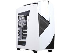 NEW NZXT Noctis 450 Mid Tower Case. Next Generation 5.25-less Design. PWM Fan Hub, Include 4 x 2nd Gen FNv2 Fans, High-End WC support, USB3.0,Glossy White/Blue LED