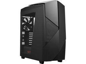 NEW NZXT Noctis 450 Mid Tower Case. Next Generation 5.25-less Design. PWM Fan Hub, Include 4 x 2nd Gen FNv2 Fans, High-End WC support, USB3.0, Matte Black/Red LED
