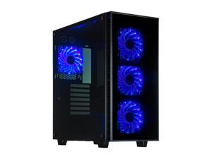 Rosewill CULLINAN ATX Mid Tower Gaming Computer Case, Tempered Glass Panels, Supports up to 420 mm long Graphics Card, and 360 mm Liquid-cooling on Top and Front, Comes with Four Fans Pre-installed