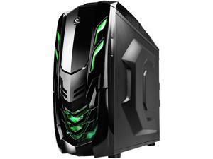RAIDMAX Viper GX ATX-512WBG Black/Green Steel / Plastic ATX Mid Tower Computer Case