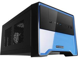 RAIDMAX Element ATX-101BUP Black/Blue Steel / Plastic Mini-ITX Tower Computer Case 450W Power Supply