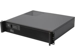 iStarUSA D213MATX-DE1BK Black Front Bezel 2U Rackmount Compact Server Case