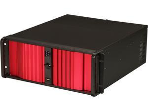 iStarUSA D Storm D-400SEA-RD Black 4U Rackmount Compact Stylish Chassis - Red Bezel