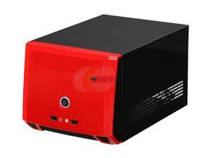 Athenatech  A1089BR.150  Glossy Black  SECC Steel  Mini-ITX Tower  Computer Case150W  Power Supply with Red Front Panel - Retail
