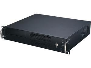Athena Power RM-2UC238 Black 1.0mm SECC 2U Rackmount Server Case