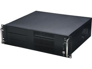 Athena Power RM-3UC338 Black 1.0mm SECC 3U Rackmount Server Case