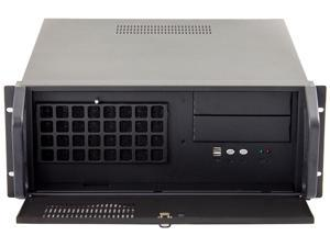 "Habey RPC-810 Black Heavy Duty 1.2mm Cold-rolled Steel, Texture Power Coated 4U Rackmount Server Chassis 2 External 5.25"" Drive Bays"