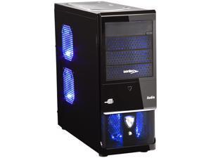 Sentey Black Box Series 4291 Mid Tower Computer Case w/ HD Audio & Card Reader, SECC 0.7mm, 2x USB, 4x 120mm Fans (3x w/LED), ATX-MATX