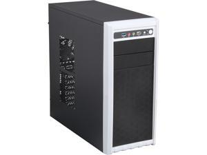 DIYPC FM08-B Black USB 3.0 ATX and Micro-ATX Mid Tower Computer Case with 1 x 120mm and 1x 80mm White Fan