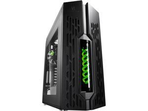 DEEPCOOL GENOME The worldwide first unique PC case with integrated 360mm liquid cooling system Black case with Green helix