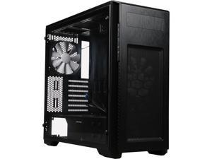 Phanteks Enthoo Pro M PH-ES515PA_BK, Full Size Acrylic Window, Brushed Black Steel/Plastic Mid Tower ATX Chassis