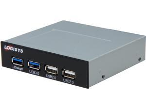 "LOGISYS Computer FP302BK Two USB 3.0 and Two USB 2.0 Panel 3.5"" Bay Panel"
