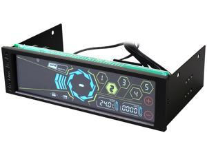 "Thermaltake Commander FT Touch Screen 5 Channel Single 5.25"" Bay Fan Controller AC-010-B51NAN-A1"