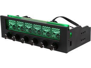 "Thermaltake Commander F6 RGB LCD 6 Channel Single 5.25"" Bay Fan Controller AC-024-BN1NAN-A1"