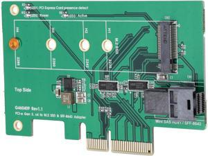 SYBA SY-PEX50097 PCIe 4-Lane to Mini SAS HD & M.2 adapter
