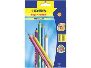 Super Ferby Woodcase Pencil, Assorted Colors, 6.25 Mm, 12 Per Pack
