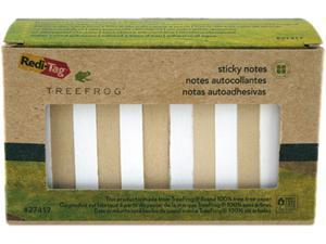 Sugar Cane Self-Stick Notes, 3X3, White/Natural, 90 Sheets/Pad, 12 Pad