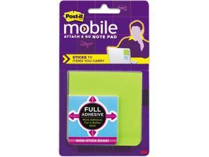 Attach & Go Full Adhesive Note Pads, 3 X 3, 2 X 2, 3 25-Sheet Pads