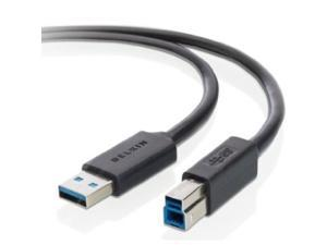 Belkin F3U159B10 10 ft. Black SuperSpeed USB 3.0 A to B Cable