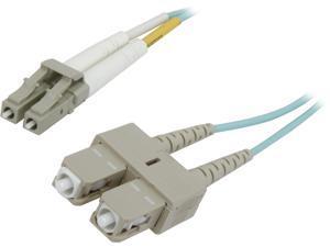 Belkin F2F402L7-01M-G 3.3 feet (1m) Patch Cable 10 Gig Aqua 50/125 LC/SC M-M