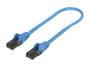 BELKIN A3L980-01-BLU-S 1 ft. Cat 6 Blue Color Patch Cable CAT6 Snagless RJ-45M / RJ-45M