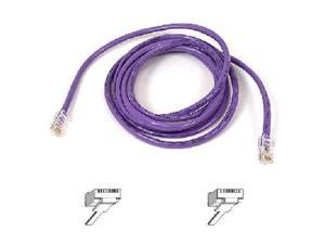 BELKIN A3L791-06-PUR-S 6 ft. Cat 5E Purple Color Patch Cable CAT5e Snagless RJ-45M / RJ-45M