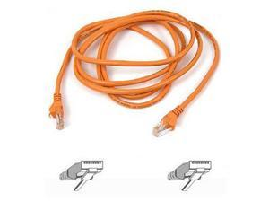 BELKIN A3L791-30-ORG-S 30 ft. Cat 5E Orange Color CAT 5e RJ45(M-M) Patch Cable  Orange Snagless