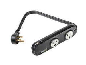 MONSTER 121538 Outlets To Go Power Strip with USB - 3 Outlets