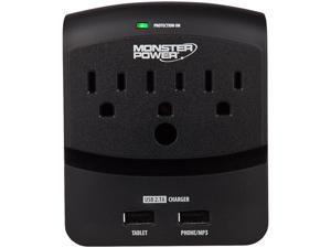 MONSTER 121822-00 (MP EXP 350 USB) 3 Outlets 540 Joules Core Power 350 USB Surge Suppressor