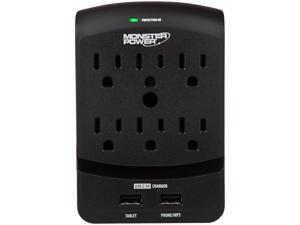 MONSTER 121824-00 (MP EXP 650 USB) 6 Outlets 1080 Joules Core Power 650 USB Surge Suppressor