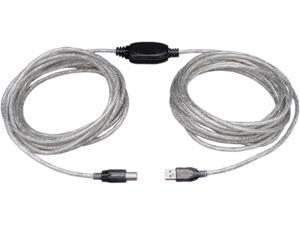 Tripp Lite U042-036 36 ft. Silver High-Speed USB 2.0 A/B Active Device Cable