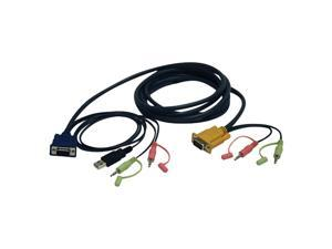 TRIPP LITE P756-010 10 ft. VGA/USB/Audio Combo Cable Kit for B006-VUA4-K-R KVM Switch