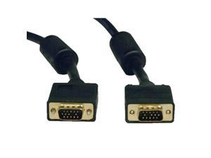 Tripp Lite Model P502-100 100 ft. SVGA/VGA Monitor Gold Cable with RGB Coax (HD15 M/M) M-M