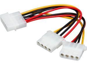 """Tripp Lite P920-006 6"""" Internal Power Y Splitter Dual Drive Cable (4Pin Male to 2x 4Pin SOK)"""
