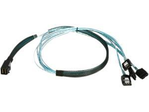 iStarUSA K-HD43XSAL-75 2.46 ft. HD miniSAS SFF-8643 to 4x SATA Latch Forward Breakout 75 cm Cable