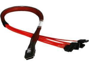 iStarUSA K-SF87XSA-50 1.64 ft. miniSAS SFF-8087 to 4x SATA Forward Breakout 50 cm Cable