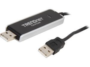 TRENDnet TU2-PCLINK 6 ft. Black High Speed PC-to-PC Share USB Cable