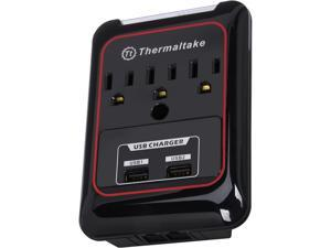 Thermaltake AC0024 TriP Surge Protector 3 Outlets with dual USB ports 2.1A output for Tablets, Smartphones, and more