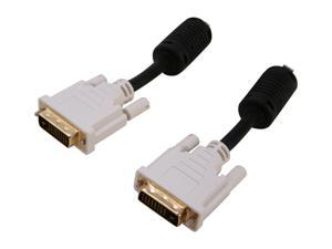 SYBA SD-DVIDL-MM-6 Black 6 Feet DVI-D Male to DVI-D Male Cable, Gold Plated Connector, RoHS