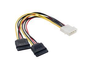 """SYBA CL-CAB40021 5.5"""" Molex to SATA Power Cable"""
