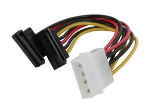 """SYBA SY-CAB40047 6"""" Molex 4-pin to Two SATA HD Power Connectors Y-cable"""