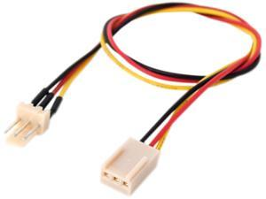 "Link Depot POW-12-EXT 12"" Power Supply 3 Pin Fan Extension Cable Female to Male"