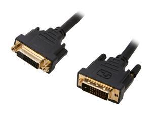 Link Depot DVI-10-DD-MF Black 10 ft. DVI-D male to DVI-D female Cable, Black