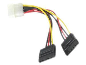 SIIG CB-PW0412-S1 LP4 Power to 2 SATA Power Splitter