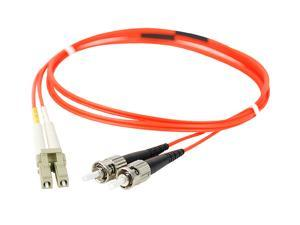 SIIG CB-FE0511-S1 3.28 ft. (1m) Multimode 62.5/125 Duplex Fiber Patch Cable LC/ST