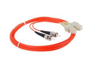 SIIG CB-FE0911-S1 6.56 ft. (2m) Multimode 62.5/125 Duplex Fiber Patch Cable ST/SC