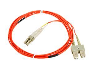 SIIG CB-FE0G11-S1 6.56 ft. (2m) Multimode 50/125 Duplex Fiber Patch Cable LC/SC